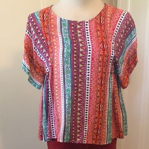 NEW Anthropologie Maeve Floral Swing Top Size XS